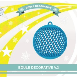 boule_deco_v3_def01.jpg Download free STL file Decorative ball V.3 • 3D printable design, Tibe-Design