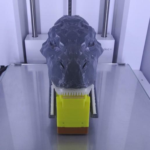 "DSC06918.JPG Download free STL file ""Monsteranimal T-Rex"" tape dispenser • 3D print design, Tibe-Design"