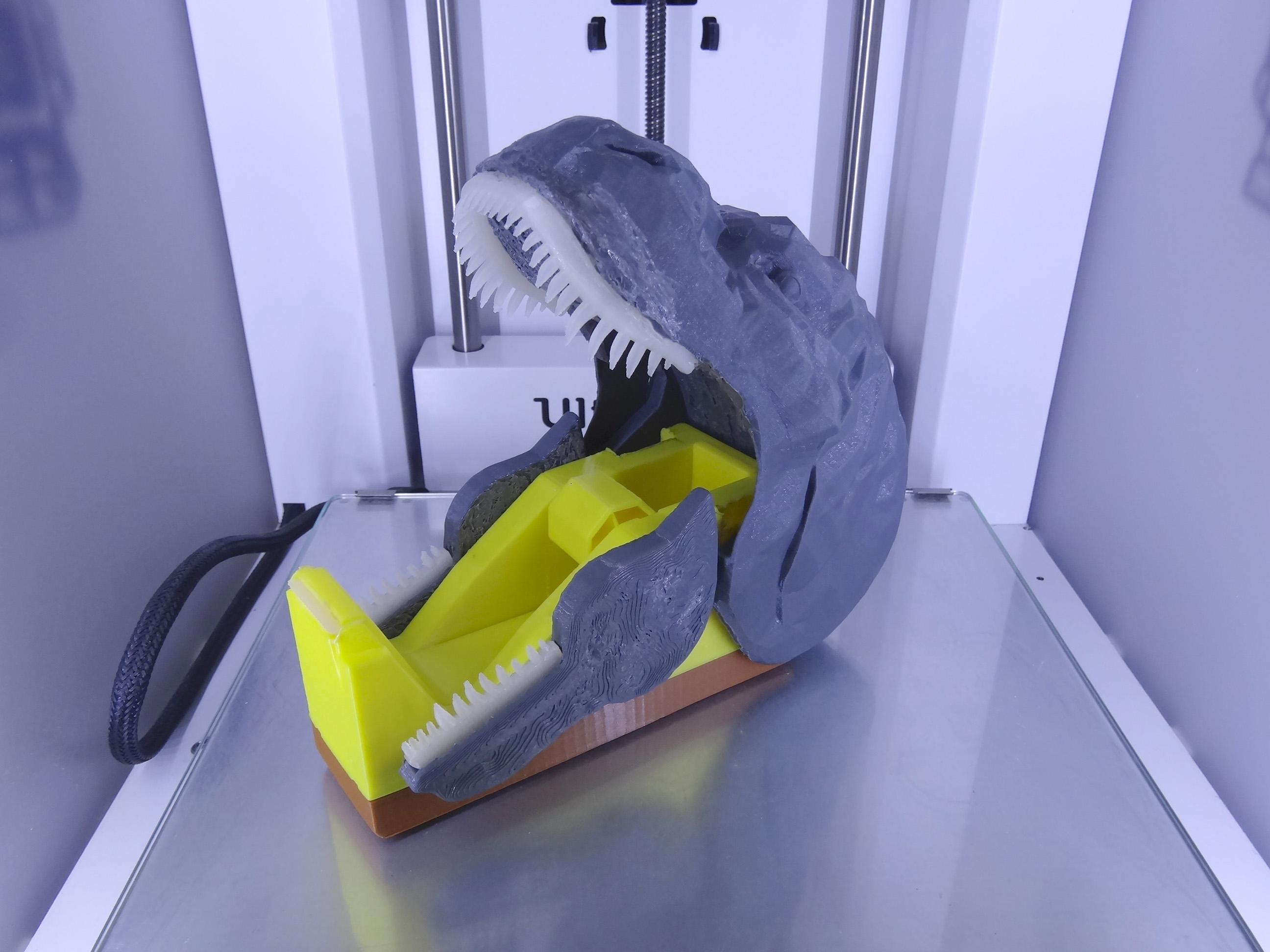 "DSC06917.JPG Download free STL file ""Monsteranimal T-Rex"" tape dispenser • 3D print design, Tibe-Design"