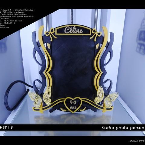 Télécharger plan imprimante 3D Cadre photo Nymphéalie, Tibe-Design