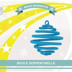 archivos stl bola Serpentinelle gratis, Tibe-Design
