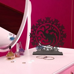 porte-bijoux_GOT_Targaryen_int02.jpg Download free STL file GOT Targaryen Jewellery Holder • Model to 3D print, Tibe-Design
