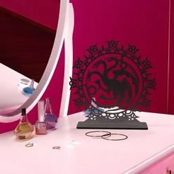 Impresiones 3D gratis Porta Joyas GOT Targaryen, Tibe-Design