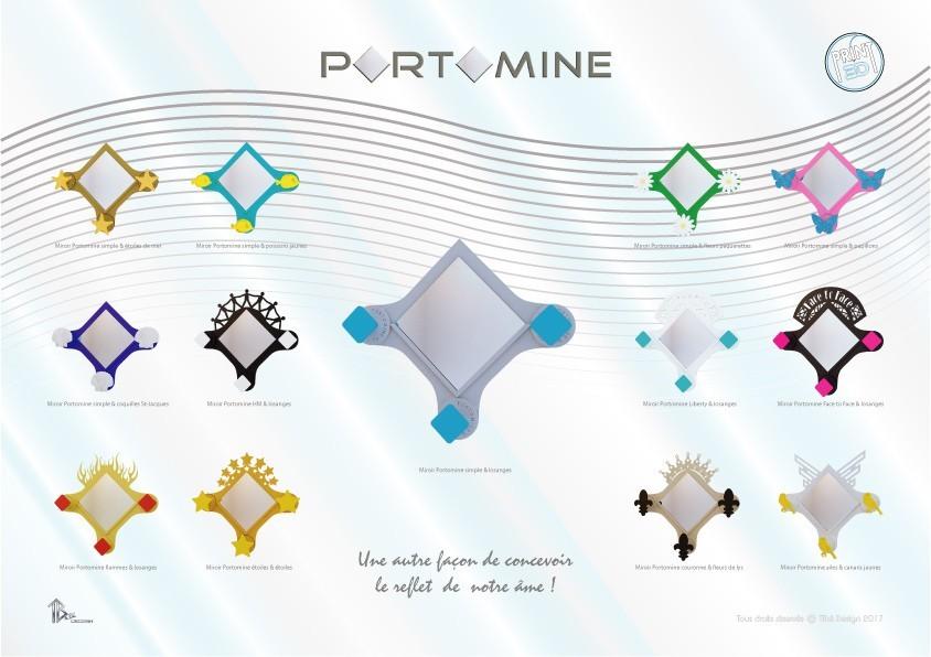 portomine_present_x13modeles01.jpg Download STL file Portomine Liberty mirror & coat hooks • Model to 3D print, Tibe-Design