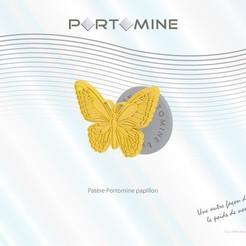 3D printer models Portomine butterfly hook, Tibe-Design