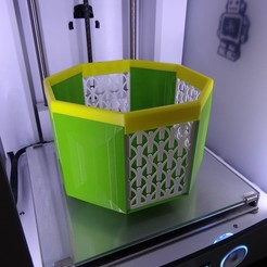 Fichier impression 3D POT-IT, pot ou cache pot, Tibe-Design