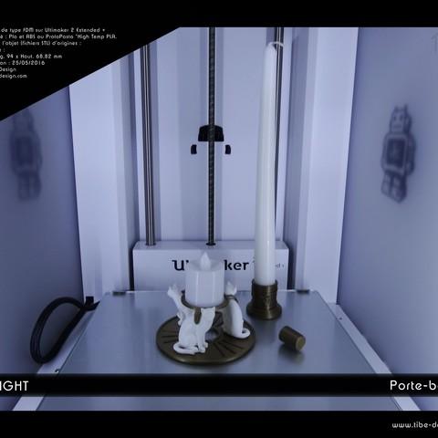 Download free 3D printer designs Chalight candle holder, Tibe-Design
