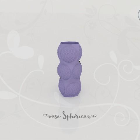 Fichier impression 3D Vase Sphéricar, Tibe-Design