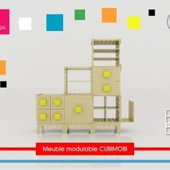 modelo stl gratis Cubimobi modular de muebles, Tibe-Design