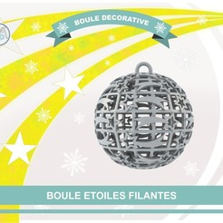 boule_etoiles_filantes_def01.jpg Download free STL file Ball Shooting Stars • 3D printer template, Tibe-Design