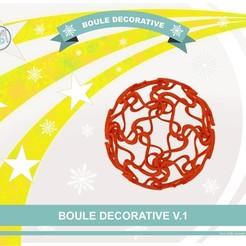 Impresiones 3D gratis V.1 bola decorativa, Tibe-Design