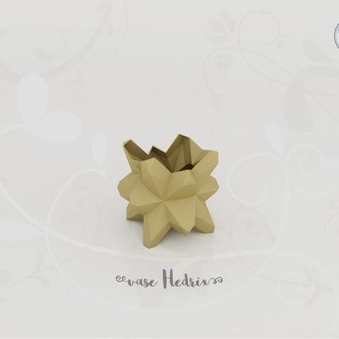 Modèle 3D Vase Hedrix, Tibe-Design
