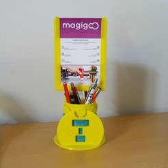 Free STL Calendrémo pencil pot & photo stand, Tibe-Design