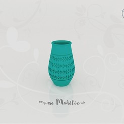 vase_modelie_present01.jpg Download STL file Vase Model • 3D printable design, Tibe-Design