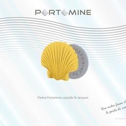 3D print files Portomine shell hook St-Jacques, Tibe-Design