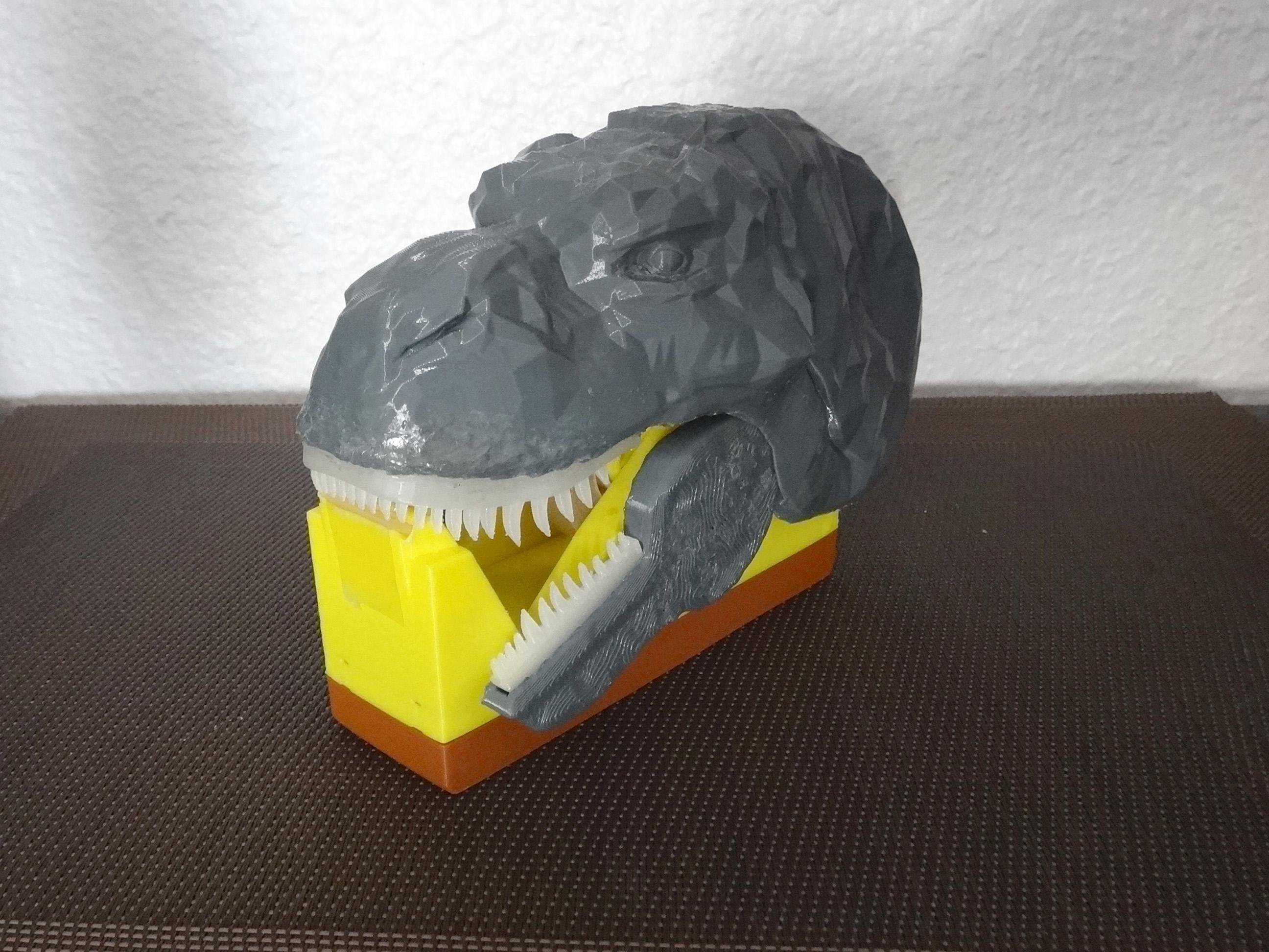 """DSC06913.JPG Télécharger fichier STL gratuit Dévidoir à scotch """"Monsteranimal T-Rex"""" • Modèle imprimable en 3D, Tibe-Design"""