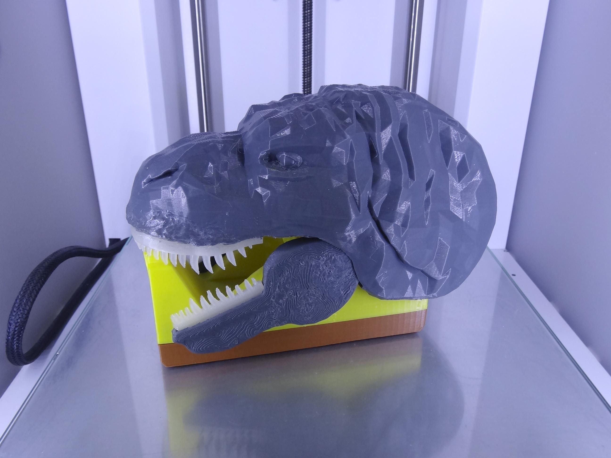 "DSC06916.JPG Download free STL file ""Monsteranimal T-Rex"" tape dispenser • 3D print design, Tibe-Design"