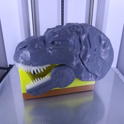 "Download free STL file ""Monsteranimal T-Rex"" tape dispenser, Tibe-Design"