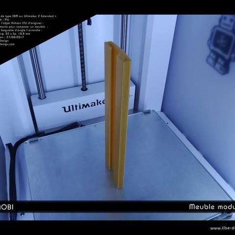 fichier imprimante 3d gratuit meuble modulable cubimobi. Black Bedroom Furniture Sets. Home Design Ideas