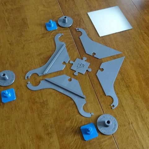 DSC06280.JPG Download STL file Portomine Liberty mirror & coat hooks • Model to 3D print, Tibe-Design
