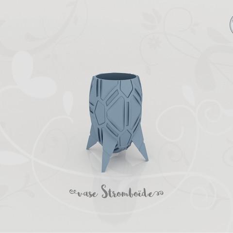 STL Stromboid Vase, Tibe-Design