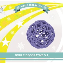 Plan imprimante 3D gatuit Boule décorative V.4, Tibe-Design
