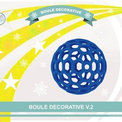 boule_deco_v2_def01.jpg Download free STL file Decorative ball V.2 • 3D printing design, Tibe-Design
