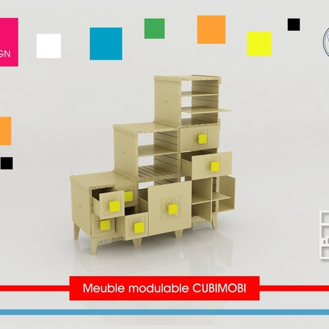 plan 3d gratuit meuble modulable cubimobi cults. Black Bedroom Furniture Sets. Home Design Ideas