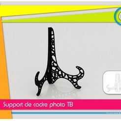support_cadre_photo_present01.jpg Download STL file TB Picture Frame Holder • 3D print object, Tibe-Design
