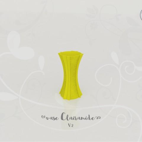 Télécharger fichier STL gratuit Vase Clairamide V.2, Tibe-Design