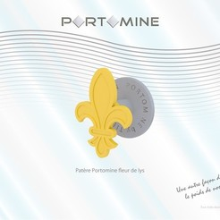 STL file Portomine fleur de lis hanger, Tibe-Design