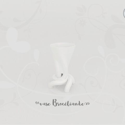 STL Vase Brocéliande, Tibe-Design