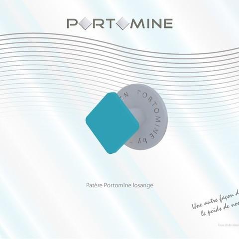 portomine_patere_losange01.jpg Download free STL file Portomine lozenge hook • 3D print template, Tibe-Design