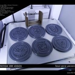 """diseños 3d gratis Coaster """"El Logos de coches Prestige"""", Tibe-Design"""
