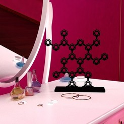 Download 3D printer designs Nidabeille jewelry holder, Tibe-Design