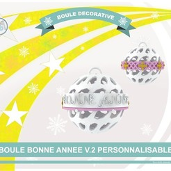 boule_an_v2_def01.jpg Download free STL file Decorative ball of the new year V.2 • 3D printing template, Tibe-Design