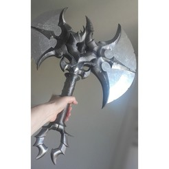 Free 3D print files Warcraft 1 hand Axe Eredar Splitter, Vince3D