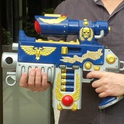 Bolter_008.jpg Download OBJ file Warhammer 40K Sternguard Bolter 45 cm • 3D printer template, Vince3D