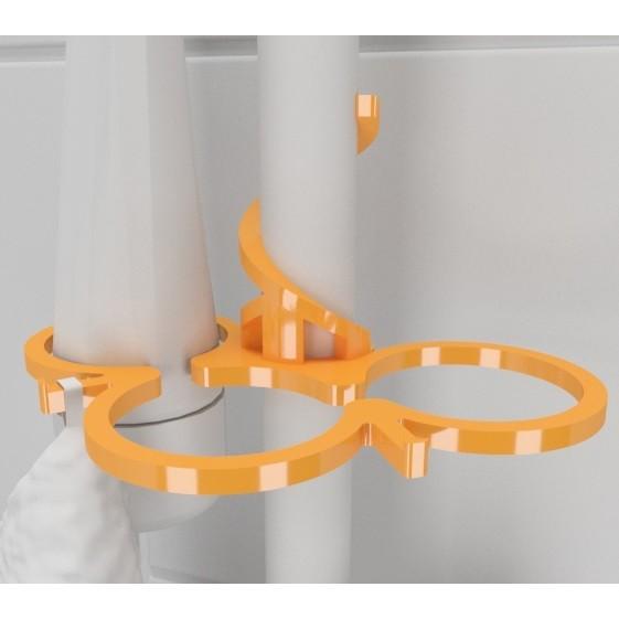 Hook_shower04.jpg Download free STL file SOAP HOLDER FOR SHOWER WITHOUT FIXING • 3D printable template, Vince3D