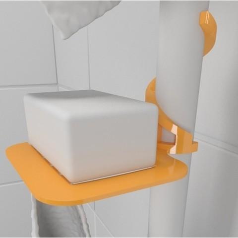 Hook_shower02.jpg Download free STL file SOAP HOLDER FOR SHOWER WITHOUT FIXING • 3D printable template, Vince3D