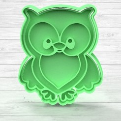 1.89.jpg Download STL file COOKIE CUTTER ANIMAL OWL • 3D print design, TiendaDeCortantes