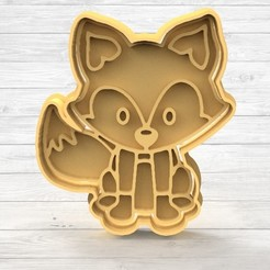 1.88.jpg Download STL file Zorro Animals Cookie Cutters • 3D printable template, TiendaDeCortantes