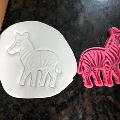 Télécharger fichier imprimante 3D Coupeuse de zèbre - Coupeuse de biscuits Zebra, Wanheda09