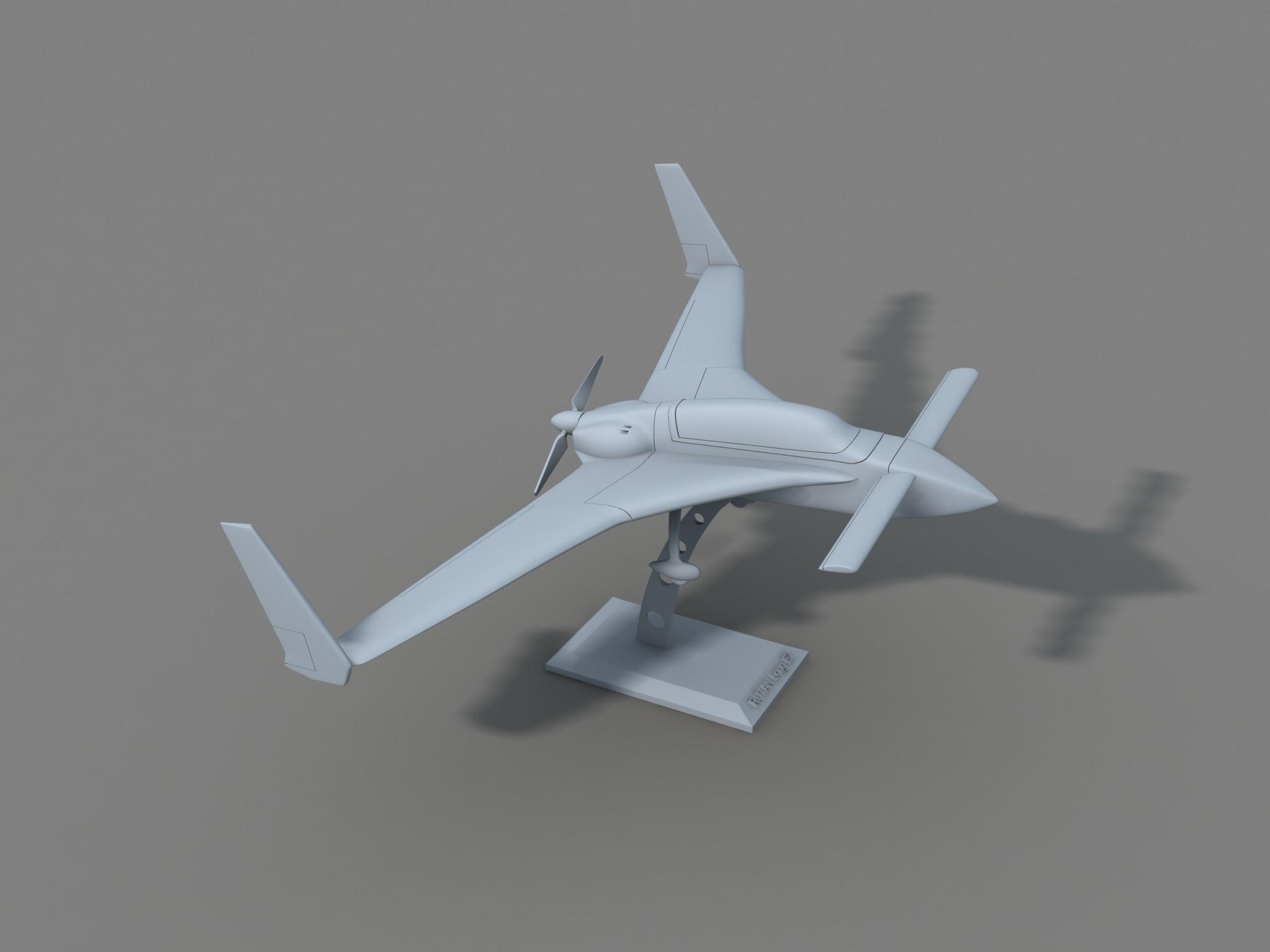 borra3.jpg Download STL file Rutan Long EZ • 3D print design, Nico_3D
