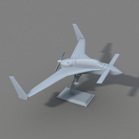 stl Rutan Long EZ, Nico_3D