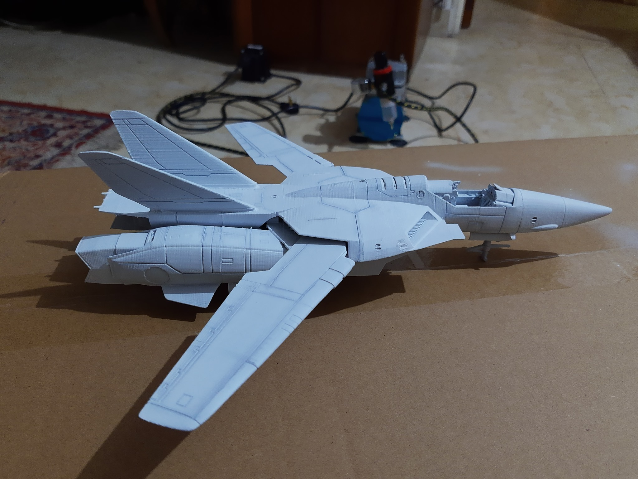 73375491_2825774144121252_7946732332839337984_n.jpg Download STL file Vf1 Robotech V2.0 • 3D printable template, Nico_3D