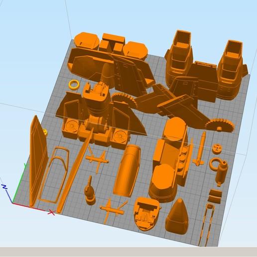 Sin título-1.jpg Download STL file Vf1 Robotech V2.0 • 3D printable template, Nico_3D