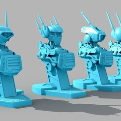 3.jpg Download STL file VF-1 mechanical bust with 4 head models available • 3D print model, Nico_3D