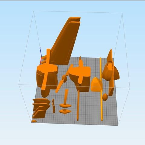 borra.jpg Download STL file Rutan Long EZ • 3D print design, Nico_3D