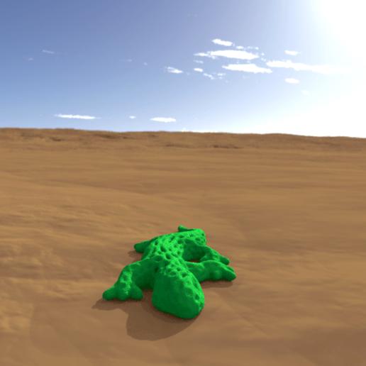 Download free 3D printer model gecko voronoï, albino